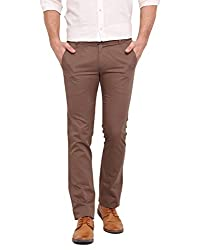 Ennoble Light Brown 2 Ply Chinos 30