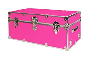 Amazon.com: SecureOnCampus College Dorm Storage Trunks / Footlockers Large - Neon Pink: Kitchen