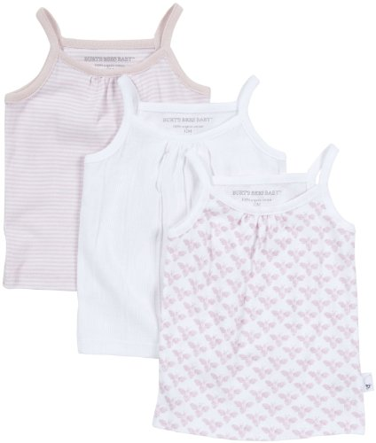 Burt'S Bees Baby Baby Girls' 3 Pack Camisoles (Baby) - Blossom - 18 Months front-1045612