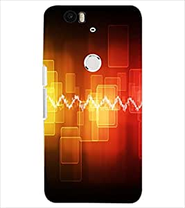 PrintDhaba ELECTRIC PATTERN D-7026 Back Case Cover for HUAWEI NEXUS 6P (Multi-Coloured)