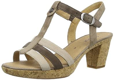 Gabor Shoes Gabor 85.734.32 Damen Sandalen, Grau (kies/fang/beig(Kor), EU 40 (UK 6.5) (US 9)