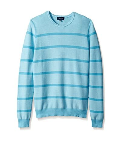 Thirty Five Kent Men's Links Stripe Crew Neck Sweater