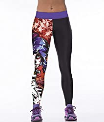 iSweven magician Design Printed Polyester Multicolor Yoga pant Tight legging for womens girls