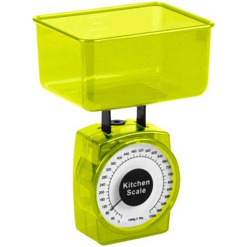Promobo -Mini Balance Cuisine patisserie Design City Vert 0 à 1000g à 20g prés