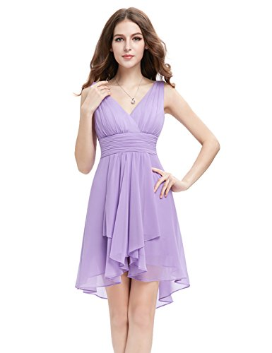 HE03644QP06, Light Purple, 4US, Ever Pretty Summer Beach Dresses Women 03644