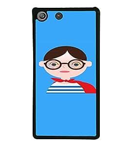 PrintVisa SONM5-Nerdy Cartoon Woman Design Metal Back Cover for Sony Xperia M5 Dual E5633 E5643 E5663, Sony Xperia M5 E5603 E5606 E5653