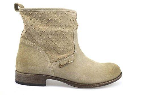 scarpe donna BRACCIALINI 40 stivaletti beige camoscio AP632
