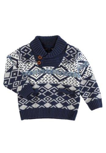Name It Mini Parker Ls Knit - Dress Blues - 3-4 Years - Dress Blues front-30271