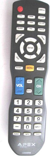 Original New Apex Ld200Rm Remote Control For All Apex Lcd & Led Tv---Us 30 Day Warranty