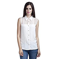 MansiCollections Women's Solid Casual White Shirt (XXX-Large)