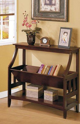 Cheap Wood Magazine Rack Console Table – Cappuccino Finish (VF_AZ00-32808×19861)