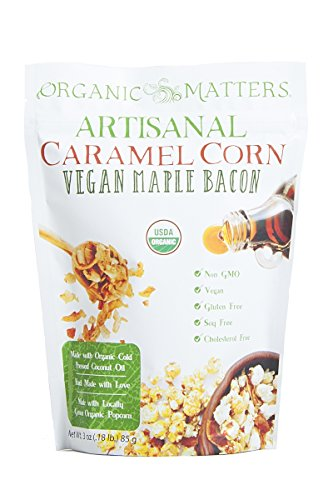 Organic Matters Vegan Caramel Corn - A healthier dairy free caramel corn made with Cold Pressed Coconut Oil - USDA Organic   Non-GMO   Soy Free (Vegan Maple Bacon) - 3 pack (Vegi Salt compare prices)