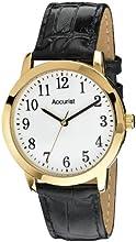 Comprar Accurist MS673WA - Reloj de cuarzo para hombres, correa de piel, color negro