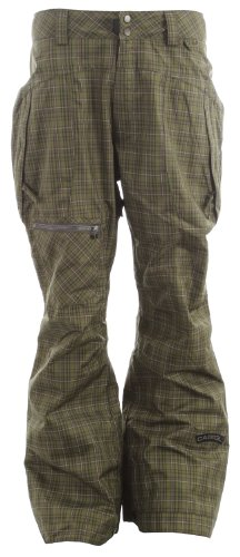 Cappel Calling Snowboard Pants Tartan Plaid Battle Green Mens Sz XL