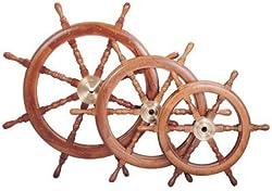 "36"" Nautical Hardwood Ship Wheel"