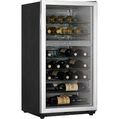 Haier HVZ035ABS 35-Bottle Capacity Extra large Wine Cellar, Black