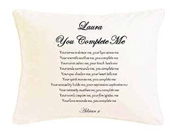 personalised romantic poem faux silk cushion gift you