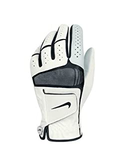 Nike Golf Men's Tech Xtreme IV Regular Left Hand Glove in White with Black Trim (Medium)