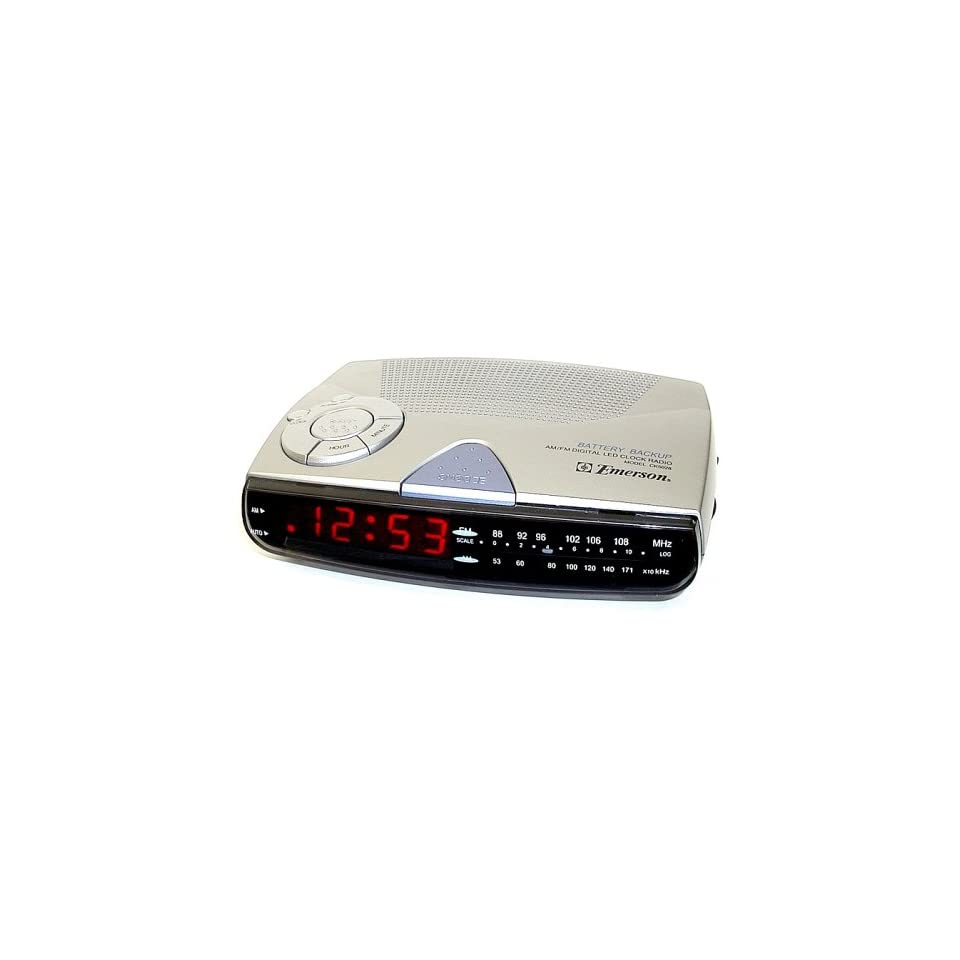 Emerson CK5028 Am/Fm Digital Clock Radio with Sure Alarm Battery Back