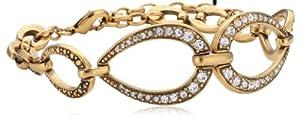 Pilgrim Jewelry Damen-Armband Messing aus der Serie pure relaxation vergoldet,weiß 17.5 cm 141322022