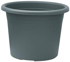 blumentopf cylindro rund aus kunststoff farbe anthrazit durchmesser 60 cm garten. Black Bedroom Furniture Sets. Home Design Ideas
