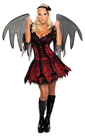 Secret Wishes Sexy Vampire Fairy Costume, Red, X-Small