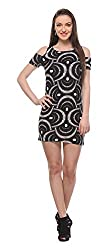 Wearsense Women's Dress (Black and White, Medium)