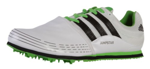 Adidas Jumpstar Allround Schuhe Spikes Leichtathletik Sprung Track and field Sport Training Freizeit Trainers Unisex Herren Damen running white black Intense green Weiß grün 48 2/3 UK 13