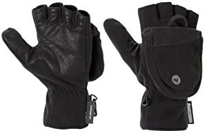 Marmot Men's Windstopper Convertible Glove, Black, Large