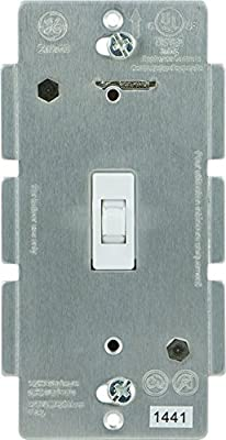 GE 12727 Z-Wave Wireless Lighting Control Smart Toggle Switch, White