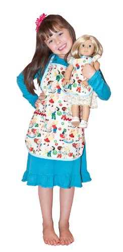 Girl & Doll Retro Candy Kids Aprons