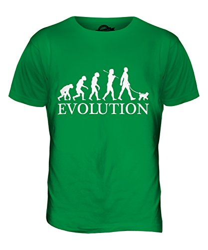 CandyMix Barbone Miniatura Evoluzione Umana Unisex Bambino Ragazzi/Ragazze T-Shirt, Taglia 12 Anni, Colore Verde