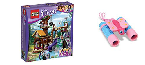 LEGO Friends Adventure Camp Tree House 726 Pcs & free Gifts Sunny Patch Bixie Butterfly Binoculars (Colors may vary) Toys (Lego Friends Adventure Camper compare prices)