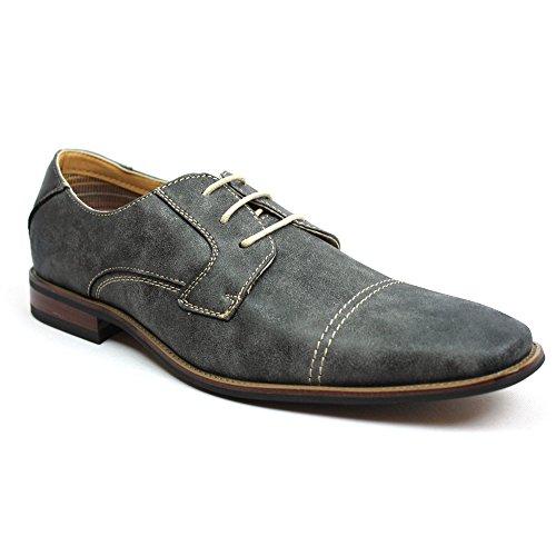 Ferro Aldo Men's Cap Toe Dress Shoes Italian Design 19273 (7.5 U.S, Grey)