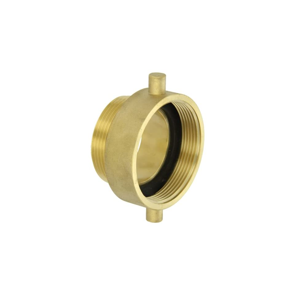 Moon 369 3022521 Brass Fire Hose Adapter, Pin Lug, 3 NH Female x 2 1/2 NH Male