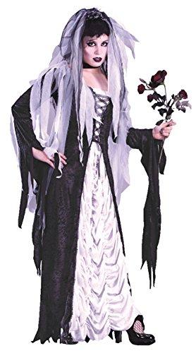 [Funworld Womens Deluxe Frankenstein Bride Of Darkness Theme Party Fancy Costume, Small/Medium (2-8)] (Frankensteins Bride Costume)