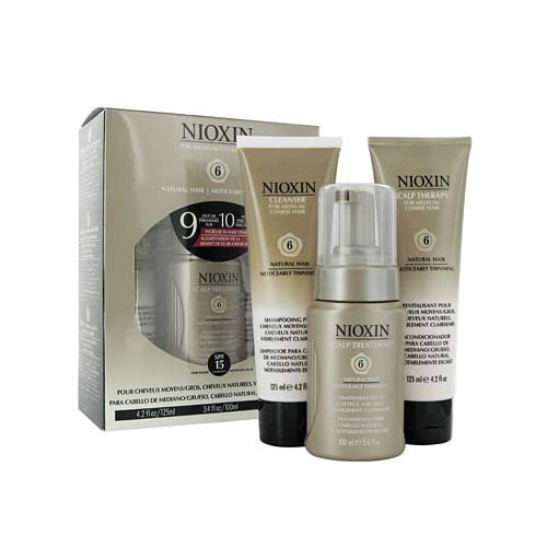 Nioxin Maintenance Kit, System 6 (Cleanser 8.5 Ounce, Scalp Treatment 3.4 Ounce, Scalp Therapy 4.2 Ounce)