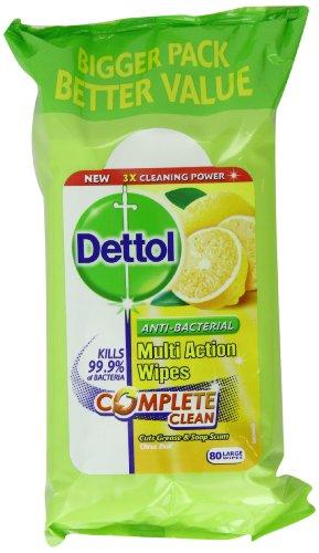 Dettol Complete Clean Citrus Zest Wipes 80 Pieces (Pack of 3)