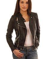 Balingi Veste Biker en simili cuir pour femme BA10424
