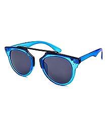 Stacle High Fashion Round Unisex Sunglasses (Blue Frame) (STTENGT001)