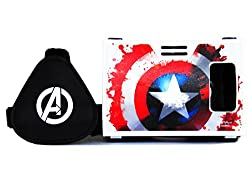 Marvel Avengers The Power Of Shield Plastic 6 inch Virtual Reality Viewer (VR Headset) for Android Phones, Apple iPhone from AuraVR Inspired by Google Cardboard