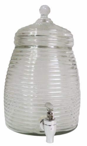 VMI Housewares VMI Housewares G-01997 Beehive Beverage Dispenser, 5-Liter,Clear Glass
