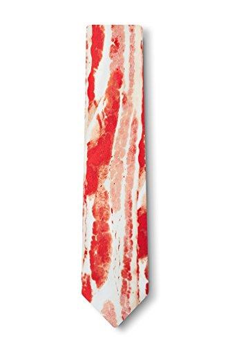 Bacon Forever Red Microfiber Skinny Tie