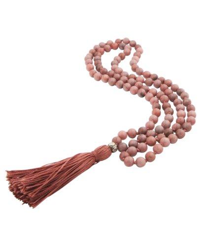 108 Pink Sodalite Beads Premium Knotted Meditation Mala