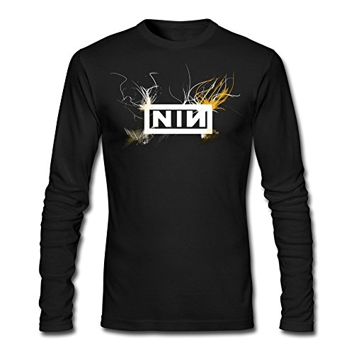 Huserd Men Tour Nine Inch Nails Art Design Logo T-shirt Long Sleeve
