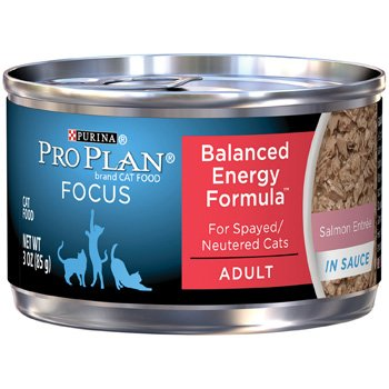 Pro Plan Focus Balanced Energy Canned Salmon Cat Food, 3 Oz.