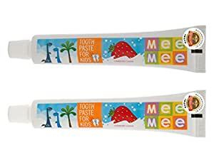 Mee Mee Fluoride Free Strawberry Flavor Toothpaste, 70g (Pack of 2)