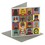 Heroes & Villans Single Greeting Card