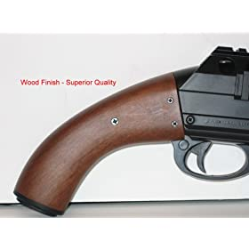 Wood Finish HEAVY Airsoft Shotgun 350 FPS w/ FIRST CLASS WORKMANSHIP - LOADED w/ LASER, RED-DOT SCOPE, FLASHLIGHT