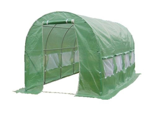 4M(L) x 2M(W) x 2M(H) Polytunnel Greenhouse Pollytunnel Poly Polly Tunnel Fully Galvanised Anti Rust Steel Frame